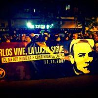 [Espanha] Vídeo: Em Madrid, antifascistas recordam Carlos Palomino 11 anos depois de seu assassinato