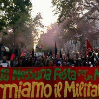 [Itália] Manifestação antimilitarista internacionalista em Gorizia reúne centenas de anarquistas