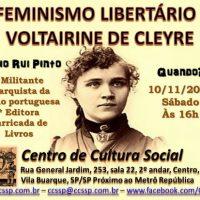 """[São Paulo-SP] """"O feminismo libertário de Voltairine de Cleyre"""""""