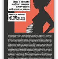 """[Espanha] Palestra-debate """"Contra a engenharia genética e seu mundo: a reprodução artificial do ser humano"""""""