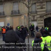 """[França] Vídeo: Em Paris, antifascistas identificam grupo de extrema direita dos """"coletes amarelos"""" e..."""