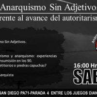 """[Chile] Santiago: """"Anarquismo Sem Adjetivo frente ao avanço do autoritarismo"""""""