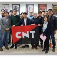 [Espanha] Sindicalistas coreanos se reúnem com a CNT para trocar experiências