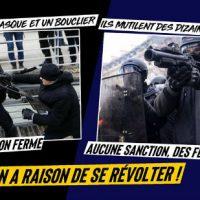 [França] 1 ano preso por golpes em um escudo - impunidade pelas mutilações