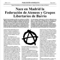 [Espanha] Nasce em Madrid a Federação de Ateneus e Grupos Libertários de Bairro
