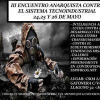 [Espanha] Madrid: III Encontro anarquista contra o sistema tecno-industrial e seu mundo