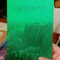 "Novidade editorial: ""Deserto"""