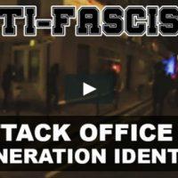[França] Vídeo: Em Paris, antifascistas atacam sede do grupo de extrema-direita Geração Identitária