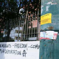 [Grécia] Intervenção fora do Centro de Detenção de Petrou Ralli, em Atenas
