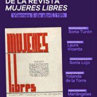 [Espanha] 5 de abril, apresentação da reedição fac-símile do primeiro número da revista 'Mujeres Libres'