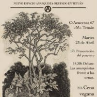 [Espanha] Madrid: Jornada de abertura de La Emboscada, espaço anarquista okupado em Tetuán