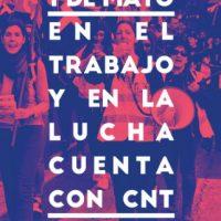[Espanha] 1° de Maio: No trabalho e na luta, conta com a CNT