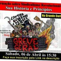 [Curitiba-PR] Formação sobre Sindicalismo Revolucionário