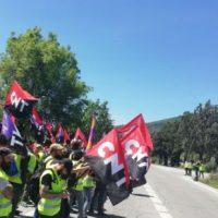[Espanha] As bandeiras da CNT se agitam em frente ao Vale dos Caídos