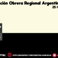 Federação Operária Regional Argentina, 118º aniversário