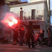 [Grécia] Manifestação motorizada em solidariedade ao grevista de fome D. Koufodinas em Patras