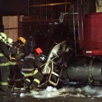 [$hile] San Miguel - Ataque incendiário em memória de Mauricio Morales