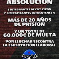 [Espanha] Mais de 20 anos de prisão por lutar contra a exploração laboral