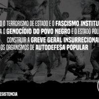 Para derrotar o governo neofascista a Greve Geral precisa ser também contra o terrorismo de Estado e o genocídio nas favelas