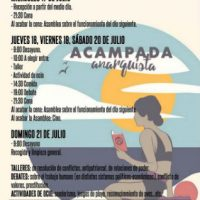 [Espanha] Acampamento Anarquista COA 2019: Atividades