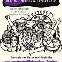 [Chile] Santiago: convocatória do bloco anarcofeminista em marcha pelo aborto livre – 25 de julho