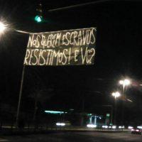 Nos querem escravos. Resistimos! E você? | Grito de anarquia na Greve Geral do 14 de Junho. Porto Alegre (RS).