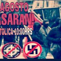 """[Chile] Santiago: Concentração antifascista """"contra a Xenofobia e o Racismo"""" – 11 de agosto"""