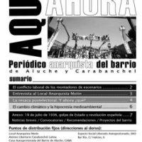 "[Espanha] Sai o sexto número do periódico anarquista ""Aquí y ahora"""