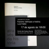 """[São Paulo-SP] No próximo dia 17 o CCS recebe lançamento do opúsculo """"Fascismo: definição e história, Luce Fabbri"""""""