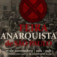 Inscrições para X Feira Anarquista de São Paulo estão abertas