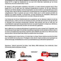 """[País Basco-França] Comunicado Revolucionário Unitário: """"Privilegia a ação direta"""""""