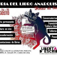 """[Peru] Fúria do Livro Anarquista """"Horas de Luta"""" acontece de 23 a 25 de agosto"""