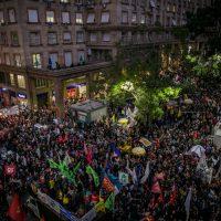 Vídeo: Anarquistas presentes em ato contra Bolsonaro em Porto Alegre (RS)