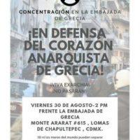 [México] Concentração em frente à Embaixada da Grécia, dia 30/08
