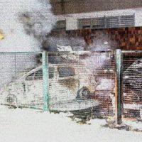 [Alemanha] Leipzig: Veículos da Telekom incendiados em solidariedade com os três do banco do parque