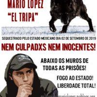 """[México] Cidade do México: Atualização sobre a situação do compa Mario López """"Tripa"""""""