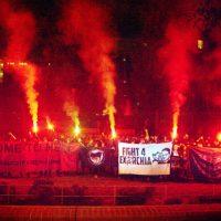 """[Alemanha] """"Amor, força e fogo de Berlim para nossos camaradas em Exarchia"""""""