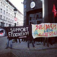 [Bélgica] Embaixada grega em Bruxelas é alvo de protesto