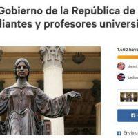 [Cuba] Carta ao Governo da República de Cuba, dos estudantes e professores universitários