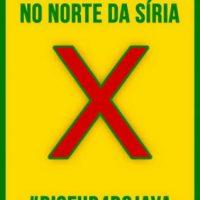 """[Rio de Janeiro-RJ] Ato de protesto em frente ao consulado turco, dia 06/09: """"Basta de guerra no norte da Síria"""""""