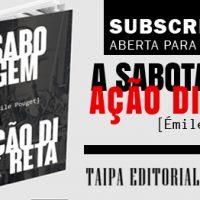 """[Parnaíba-PI] Chamada aberta para a subscrição da obra """"A Sabotagem - Ação Direta"""", de Émile Pouget"""