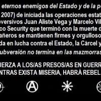 [Chile] Santiago: 12 anos dos eventos do denominado Caso Security: Juan Aliste e Marcelo Villarroel à rua