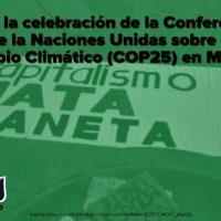 [Espanha] Diante da celebração da Conferência sobre Mudanças Climáticas (COP25)