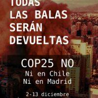 [Espanha] Todas as balas serão devolvidas. COP25 NÃO!