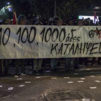 [Grécia] Vídeo | Atenas: anarquistas reagem ao despejo da okupa Kouvelou
