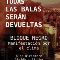 [Espanha] Madrid: Bloco Negro na manifestação pelo clima