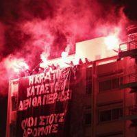 [Grécia] Vídeo | No Pasaran: Anarquistas transformam noite em dia em solidariedade com as okupas sob ataque do Estado grego