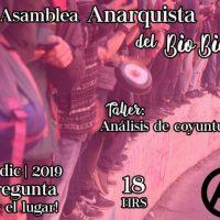 [Chile] Concepción: 1ª Assembleia Anarquista do Bio Bio – 19 de  dezembro