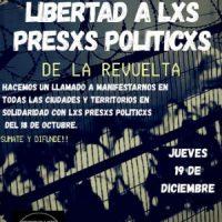 [Chile] Chamado para protestar pela liberdade dxs presxs da Revolta - 19 de dezembro