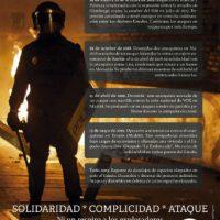 """[Espanha] """"Aqui há uma guerra"""". Alguns casos repressivos contra o anarquismo em Madrid: solidariedade, cumplicidade, ataque."""